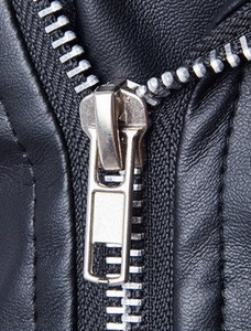 PU Leather Lapel Zipper Long Sleeve Leather Clothing