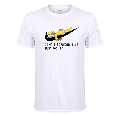 Men's Fashion Simpson Print Short Sleeve T-Shirt