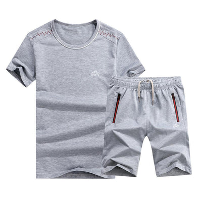 Summer Cotton Casual Sports Fashion Comfortable T-Shirt Shorts Men's Suit