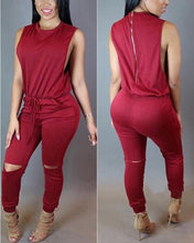 Load image into Gallery viewer, Best Selling Sleeveless Irregular Zipper Jumpsuit