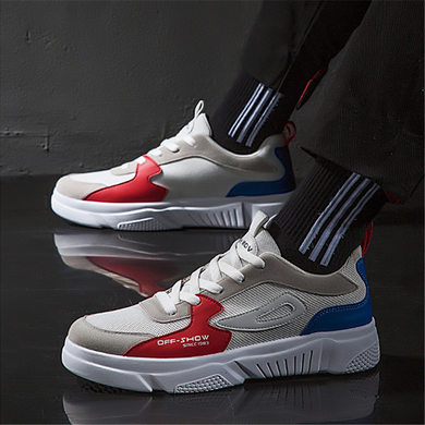 Color matching low cut breathable sneakers