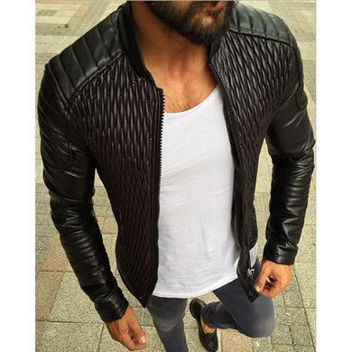 Solid Color Slim Zipper Cardigan Jacket