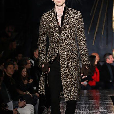 Fashion Men's Leopard Print Coat