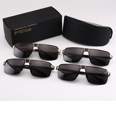 New polarized sunglasses men's frameless polarizer simple sunglasses men's HD polarizer