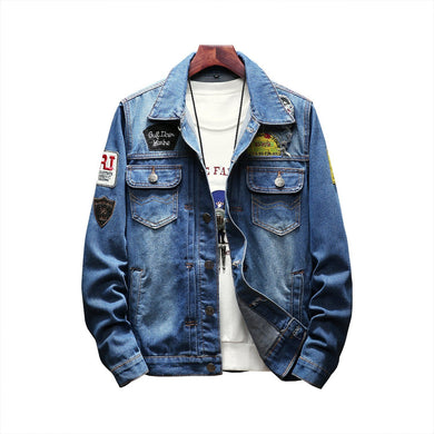 Young Man Fashion Denim Jacket