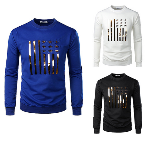 Men's Fashion Golden Flag Sweatshirt