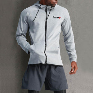 Men's Hooded Casual Speed Dry Training Running Suit Outdoor Fitness Coat