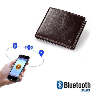 Men's leather   short smart Bluetooth anti-theft wallet