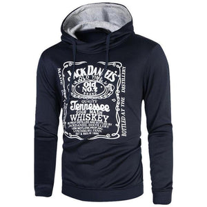 Men Letter Printing Cotton Hoodies