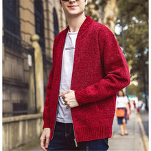 Load image into Gallery viewer, Fashionable Pure Color Baseball Collar Knit Cardigans