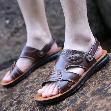 Men's hundred summer breathable casual leather sandals