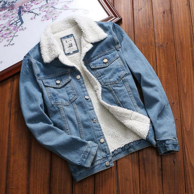 Velvet Denim Jacket Thick Jacket