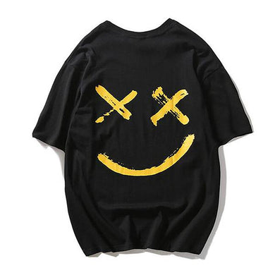 Fashion Hip Hop Smiley Short-Sleeved T-Shirt