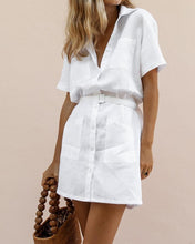 Load image into Gallery viewer, H-Shaped Belt Elegant Shirt Dress