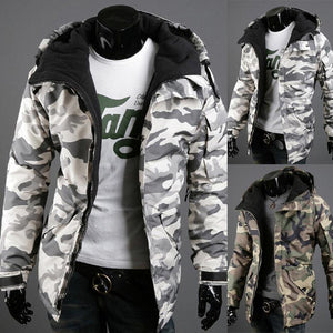 Camouflage Men's Hooded Cotton Coat