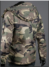 Load image into Gallery viewer, Camouflage Men's Hooded Cotton Coat
