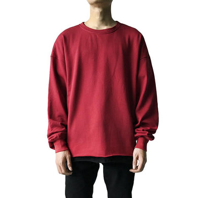 Casual round neck solid color loose sweatshirt TT070