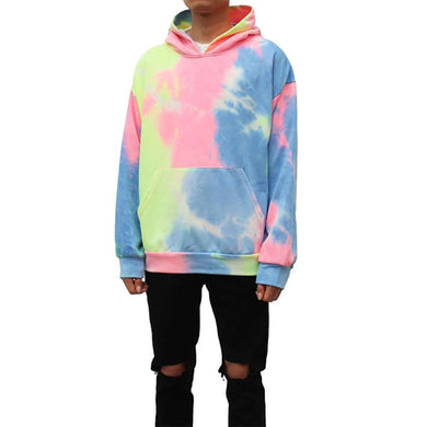Men's Casual Printed Pocket Hooded Long Sleeve Sweatshirt TT070