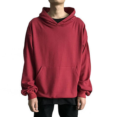 Casual Pure Color Hooded Sweatshirt TT070