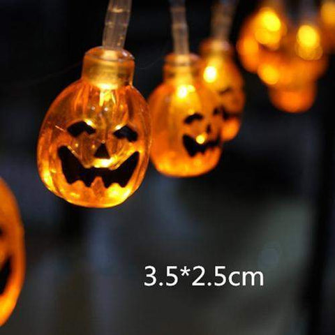 10 LED 1.8M Halloween Decor Pumpkins/Ghost/Spider/Skull LED String-light-Pocket Outdoor-pumpkin-Pocket Outdoor