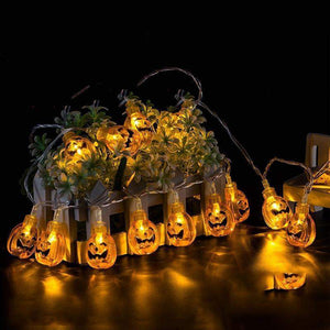 10 LED 1.8M Halloween Decor Pumpkins/Ghost/Spider/Skull LED String-light-Pocket Outdoor-Pocket Outdoor