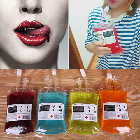 1pc 300ml Transparent Clear Medical PVC Material Reusable Blood Energy Drink Bag for Vampires-bag-Pocket Outdoor-Pocket Outdoor