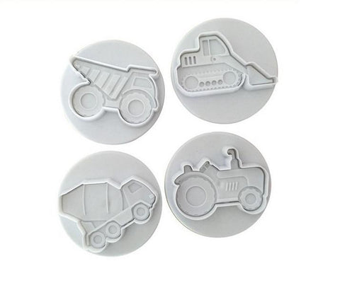 3D 4 pcs vehicles cookie cutter cupcake pastry DIY-kitchen-Pocket Outdoor-Pocket Outdoor