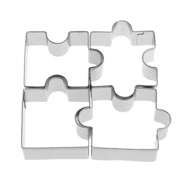 3D 4pcs Stainless Steel Puzzle Cookie Cutter-kitchen-Pocket Outdoor-Pocket Outdoor