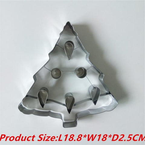 3D Giant Extra Large 1 PC Christmas Cookie Cutter Stainless Steel-kitchen-Pocket Outdoor-Christmas Tree-Pocket Outdoor