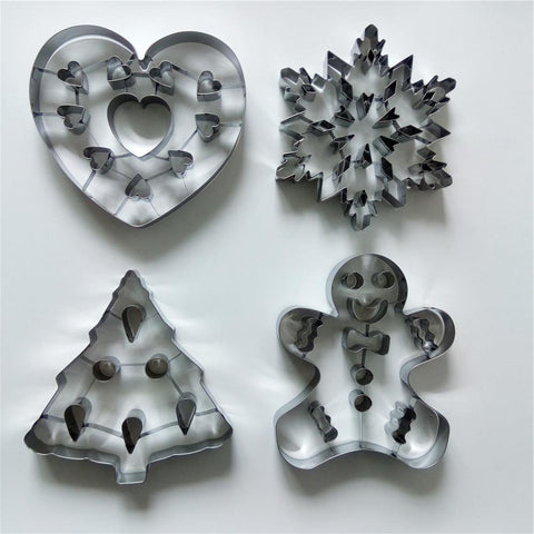 3D Giant Extra Large 1 PC Christmas Cookie Cutter Stainless Steel-kitchen-Pocket Outdoor-Pocket Outdoor
