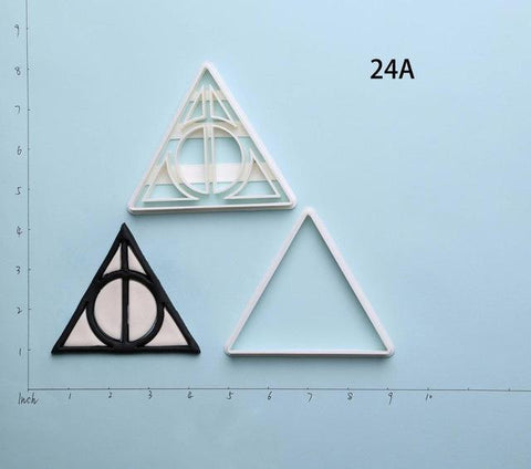 3D Printed Harry Potter Deathly Hallows Series Custom Made Cookie Cutter Set-kitchen-Pocket Outdoor-Deathly hallows 3 inch-Pocket Outdoor