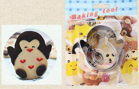3D Stainless Steel Animal Cookie Moulds-kitchen-Pocket Outdoor-penguin-Pocket Outdoor