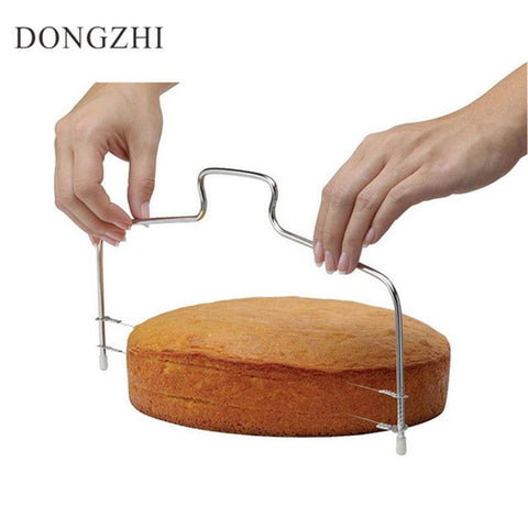 3D Stainless Steel Double Wires Cake Cutter/Slicer/Leveler Adjust Cake-kitchen-Pocket Outdoor-Pocket Outdoor