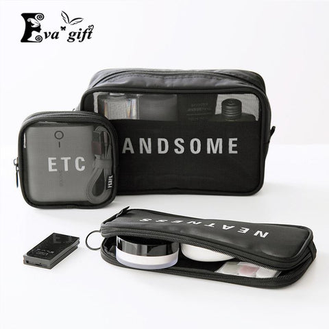 3pcs/set Cool cosmetic packing bag Headphone/data cable organizer-storage organizer-Pocket Outdoor-Pocket Outdoor