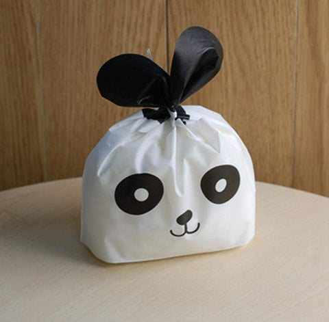 50 Pcs Panda Cookie Plastic Bags-kitchen-Pocket Outdoor-Pocket Outdoor