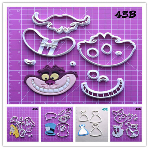 Alice in Wonderland Biscuit Cutter Set Custom Made 3D Printed Cookie Cutter-kitchen-Pocket Outdoor-Pocket Outdoor