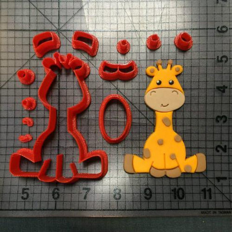 Custom Made 3D Printed Animal Lion Zebra Giraffe Cookie Cutter Set-kitchen-Pocket Outdoor-giraffe 2 inch-Pocket Outdoor