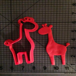 Custom Made 3D Printed Animal Lion Zebra Giraffe Cookie Cutter Set-kitchen-Pocket Outdoor-giraffe 5 inch 1-Pocket Outdoor