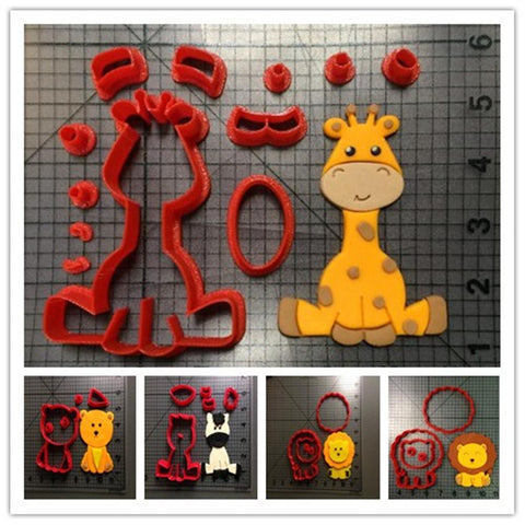 Custom Made 3D Printed Animal Lion Zebra Giraffe Cookie Cutter Set-kitchen-Pocket Outdoor-Pocket Outdoor