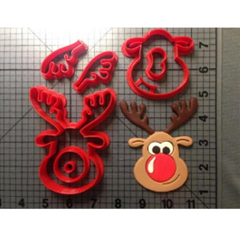 Custom Made 3D Printed Cookie Cutters Rudolph the Reindeer Cookie Cutters-kitchen-Pocket Outdoor-Pocket Outdoor