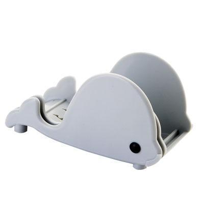 Cute whale modeling storage rack Soap box kitchen knife cutting board holder wall rack with Sucker Multi-function use knife seat-storage organizer-Pocket Outdoor-Blue-Pocket Outdoor