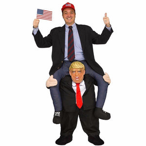 Donald Trump Carry Me Costume | Ride On Me Mascot | Cosplay-Costume-Pocket Outdoor-Pocket Outdoor