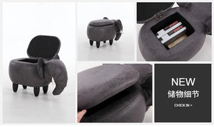 Elephant Shoes Stool with Storage-furniture-Pocket Outdoor-Pocket Outdoor
