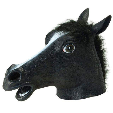 Full Head Horse Creepy Mask-Mask-Pocket Outdoor-Black-Pocket Outdoor