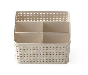 Multi-grid plastic box cosmetic case-storage organizer-Pocket Outdoor-Apricot-Pocket Outdoor