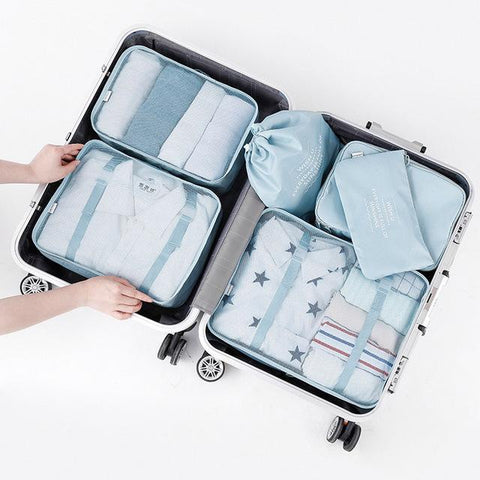 NEW portable cloth Storage bag waterproof organizer 6pcs/set-storage organizer-Pocket Outdoor-Sky Blue-Pocket Outdoor