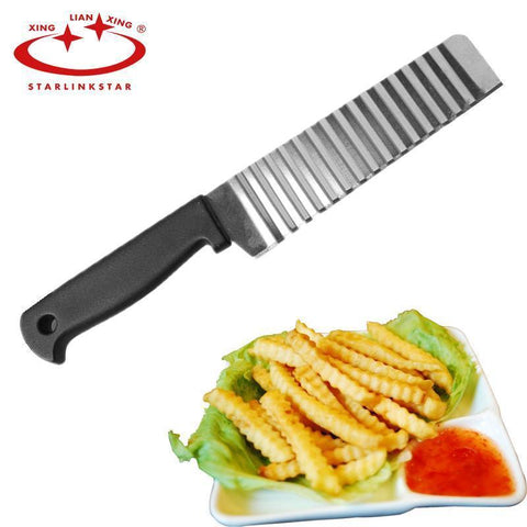 Potato French Fry Cutter Stainless Steel Kitchen Serrated Blade Easy Slicing Knife Chopper-kitchen-Pocket Outdoor-Pocket Outdoor