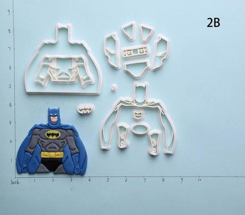 Batman Nightwing Cookie Cutter Set | Stamp and Mold-kitchen-Pocket Outdoor-Batman Full 3 inch-Pocket Outdoor