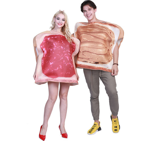 Couple Sandwich Costume: Funny Foods-Costume-PocketOutdoor-Couple Dress-One Size-PocketOutdoor