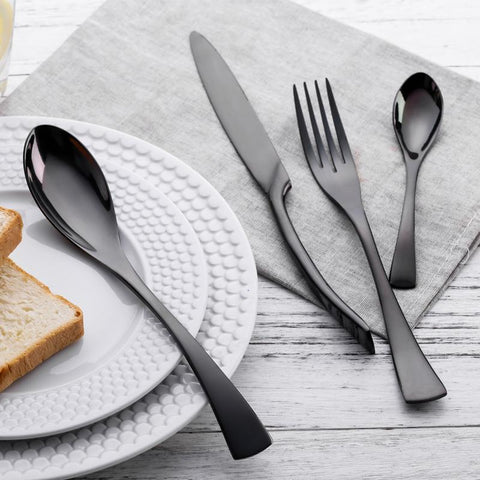 Black Cutlery Set-PocketOutdoor-PocketOutdoor